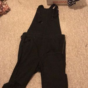 American Eagle Ripped Overall Jeans
